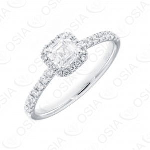 PT 950 Solitaire Ring